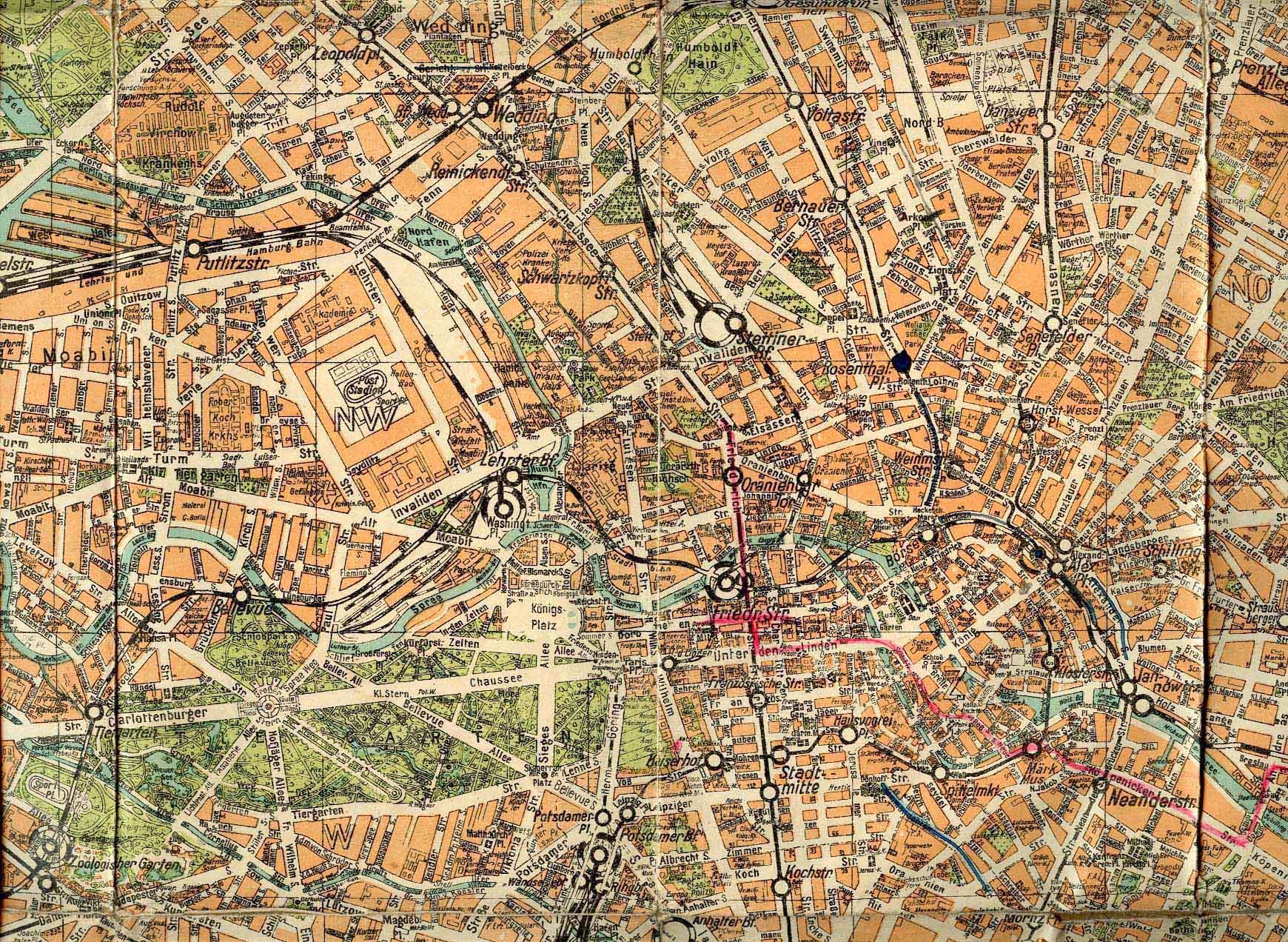 Stadtplan Berlin 1925